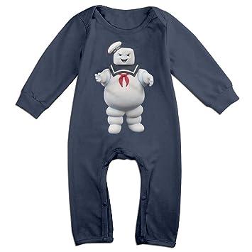 0c3be19afc HOHOE NewBorn Boy s   Girl s Stay Puft Marshmallow Man Long Sleeve Bodysuit  Baby Onesie Navy 12