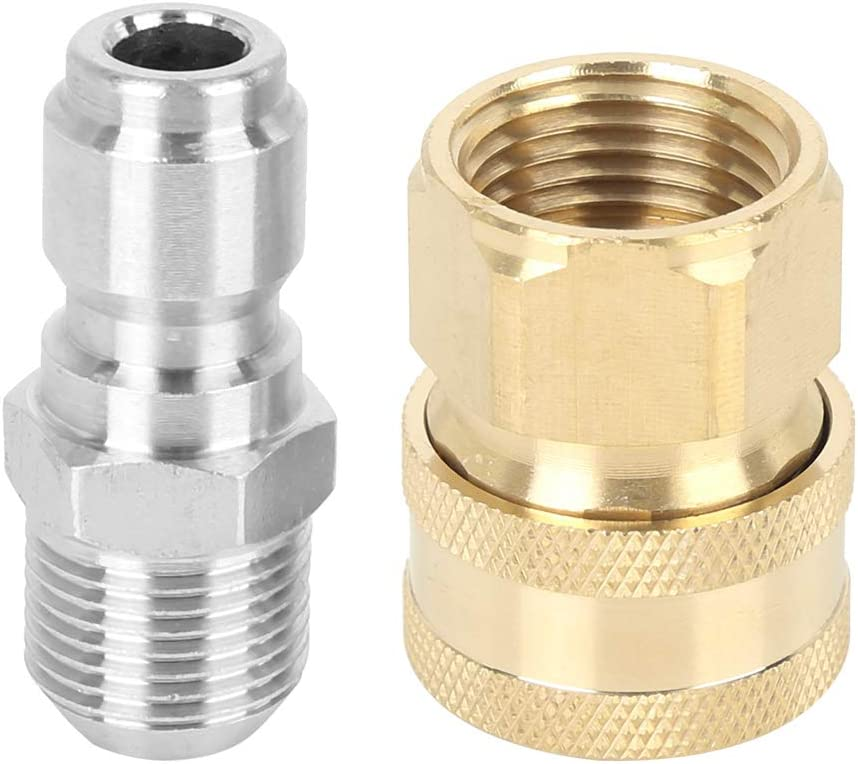 X AUTOHAUX 2 Pcs Quick Connect 3//8 Plug Internal Male Thread Car Pressure Washer Adapters