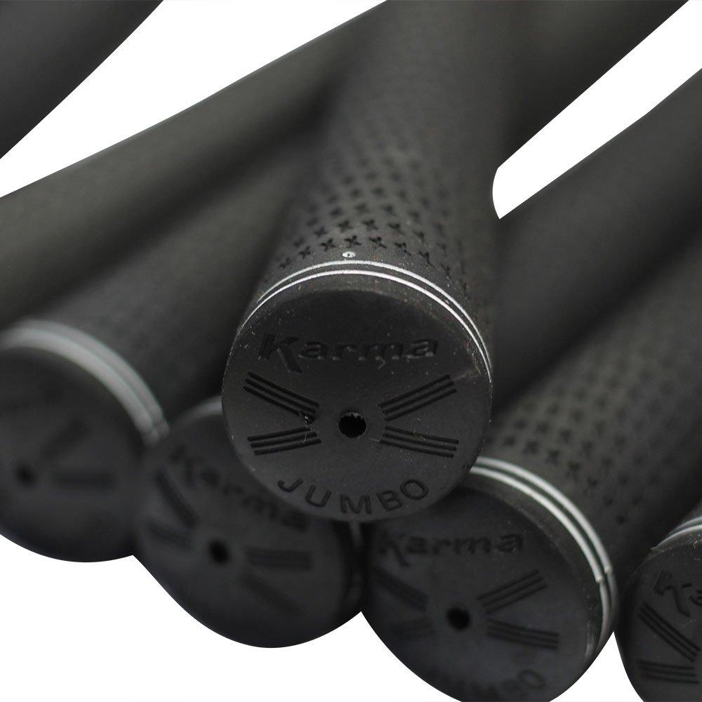 Men's Jumbo Golf Grips Karma Black Grip Set and Grip Kit (13 grips, grip tape, clamp, instructions) by Karma (Image #7)