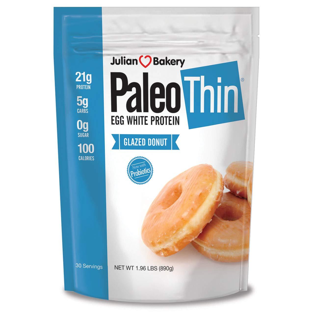 Julian Bakery Paleo Protein Powder, Glazed Donut Keto/Low Carb, 2 Pound by Julian Bakery