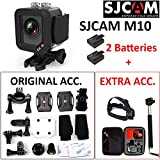 "SJCAM M10 (VALUE PACK) 1080P Full HD Anti-Shake 12MP 170°Wide 1.5""LCD Waterproof Mini Cube Action Camera (Black)"