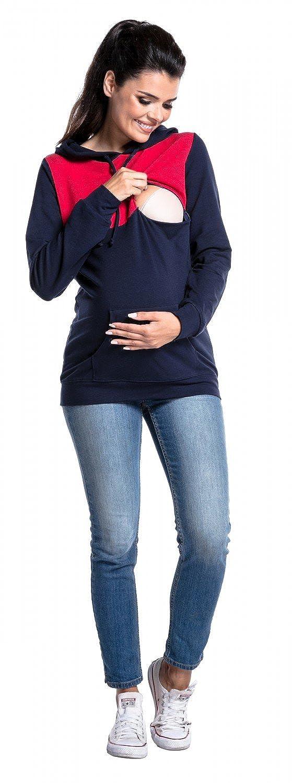 nursing panel Zeta Ville Womens breastfeeding top sweatshirt hoodie 512c