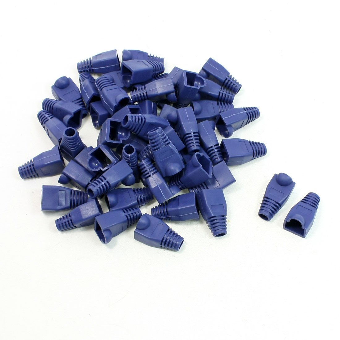 50 piezas de plástico anti-polvo botas de tapones embellecedores de azul para RJ45 conector: Amazon.es: Electrónica