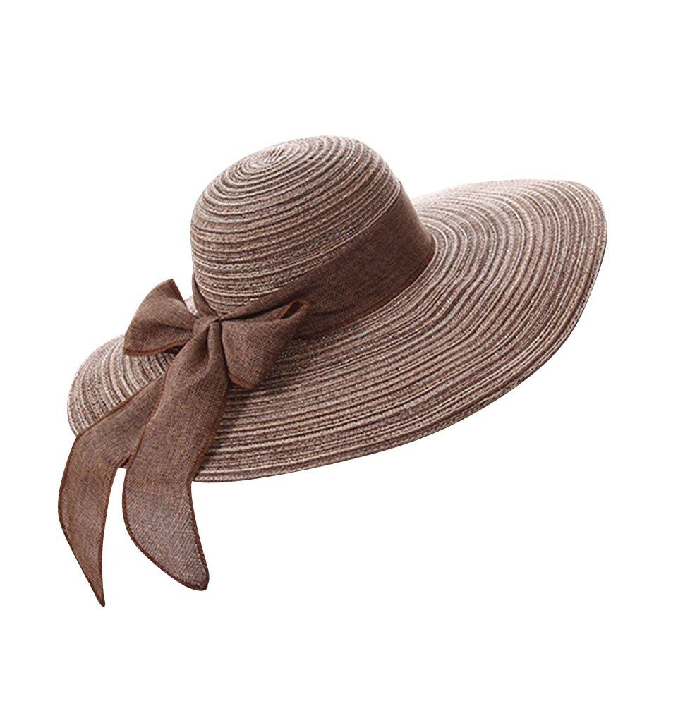 d3ea5b09d6b68 Damas   Chicas Sombrero de verano  Grande Sombrero de playa ...