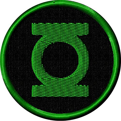 DC Comics Justic League Green Lantern Black Logo 3 Inch Embroidered Iron On or Sew On Patch