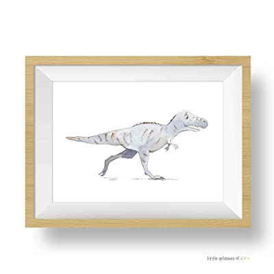 Dinosaur Wall Art, Tyrannosaurus Rex Art Print, Toddler Room Decor Boy: Handmade