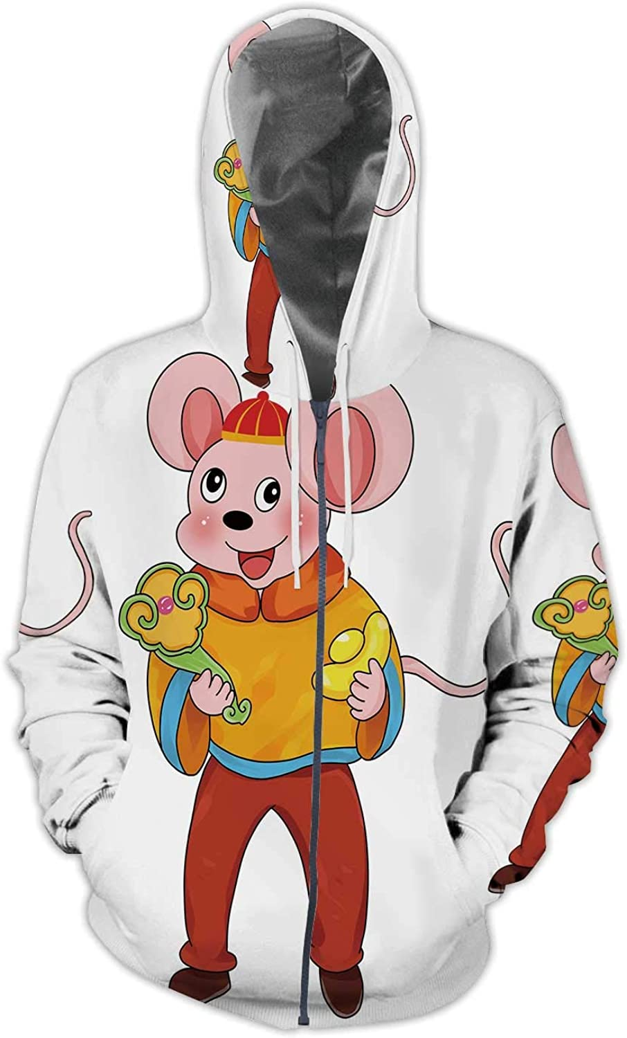Muse Happy New Years,Men//Womens Warm Outerwear Jackets and Hoodies 2020 Year of The Rat S