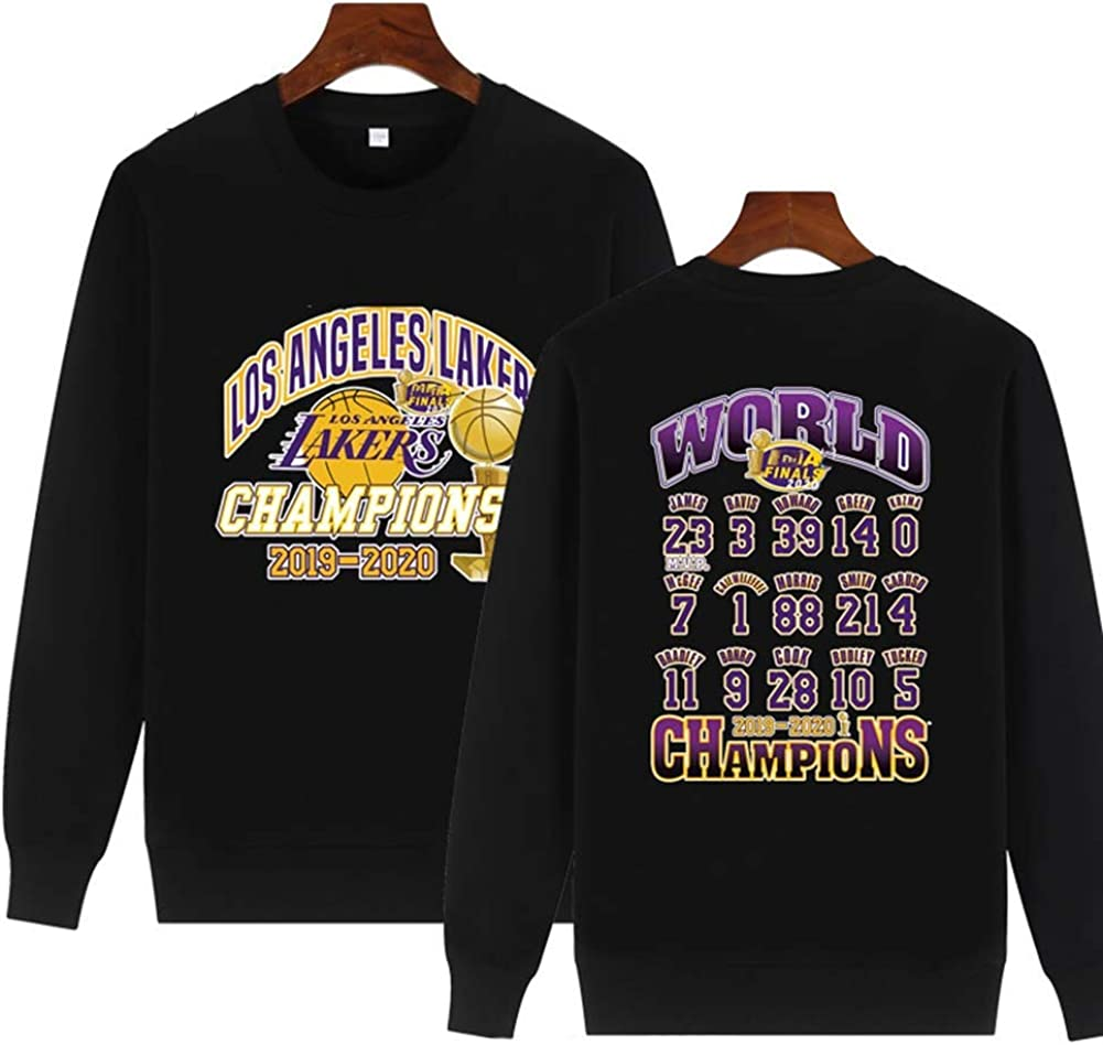 N//G Commemorative Lakers Championship 2020 T-Shirt Gifts for Fans Casual Sports Wear Size: S-3XL Training T-Shirt Lakers Basketball Jersey Breathable