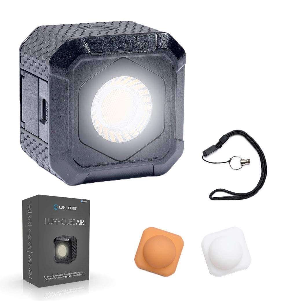 Lume Cube AIR Magnetic LED Light for Photo, Video, and Content Creation, Waterproof On-Camera LED for Sony, Canon, Nikon, Panasonic, Fuji, Smartphone, GoPro�