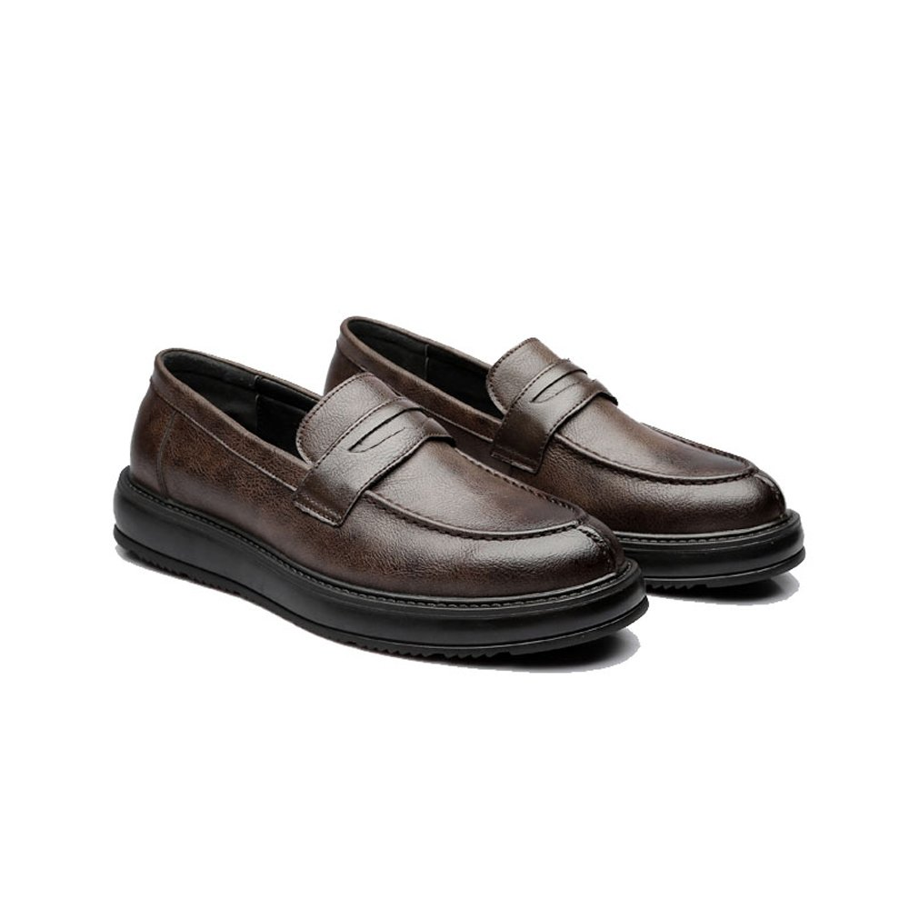 MUMUWU Mens Formal Business Shoes Classic Slip-on Loafers PU Leather Casual Outsole Oxfords Breathable