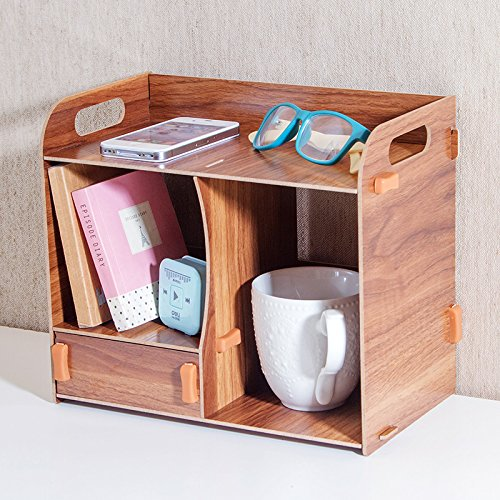 Libina Caja De Almacenamiento De Cajón De Escritorio Creativo Dormitorio De Escritorio Papelería De Escritorio De Madera...
