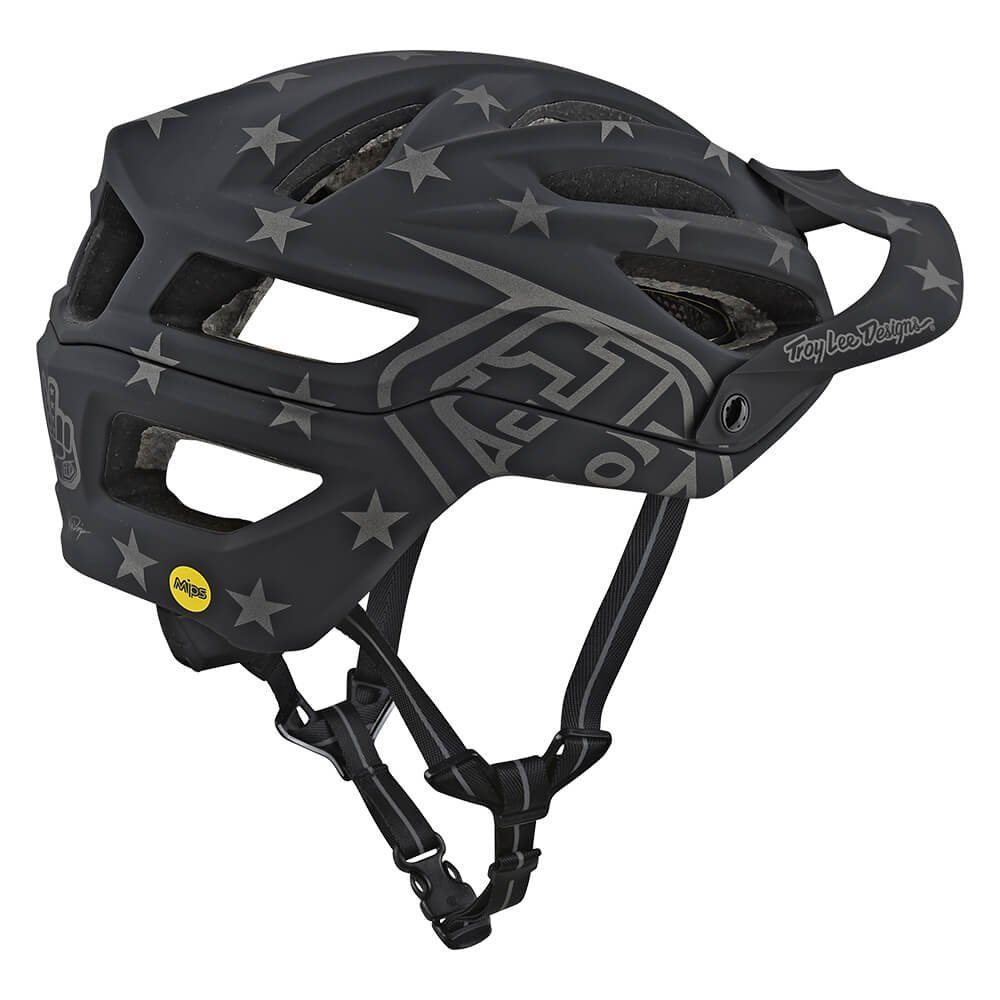 Troy Lee Designs A2 Superstar Mountain Bike Adult Helmet 2018 with MIPS Protection and X-Static Liner meets/exceeds CPSC CE-EN AS/NZS X-Large/2X-Large Black by Troy Lee Designs (Image #2)