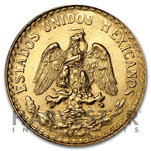1945 Mexico Gold 2 Peso Coin .0482 AGW - Affordable Gold ...