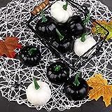 Elcoho 16 Pack Small Artificial Lifelike Pumpkin