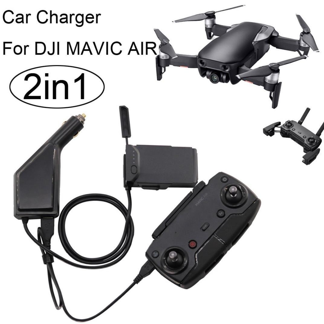 rucan 2 in1 USB車充電器リモート制御バッテリ充電器for DJI Mavic Air Drone B07BPYBFVT
