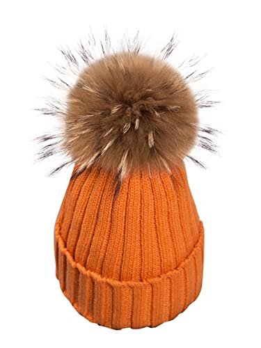 Simplee Apparel Women 's Winter Warm crochet Knit pompon Bobble Ski snowboard sombrero gorro de piel
