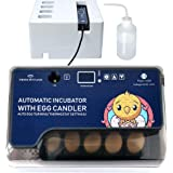 Egg Incubator with Automatic Egg Turning Turner for Ducks Goose Quail Chicken Eggs,Built-in Egg Candler,Small Egg…