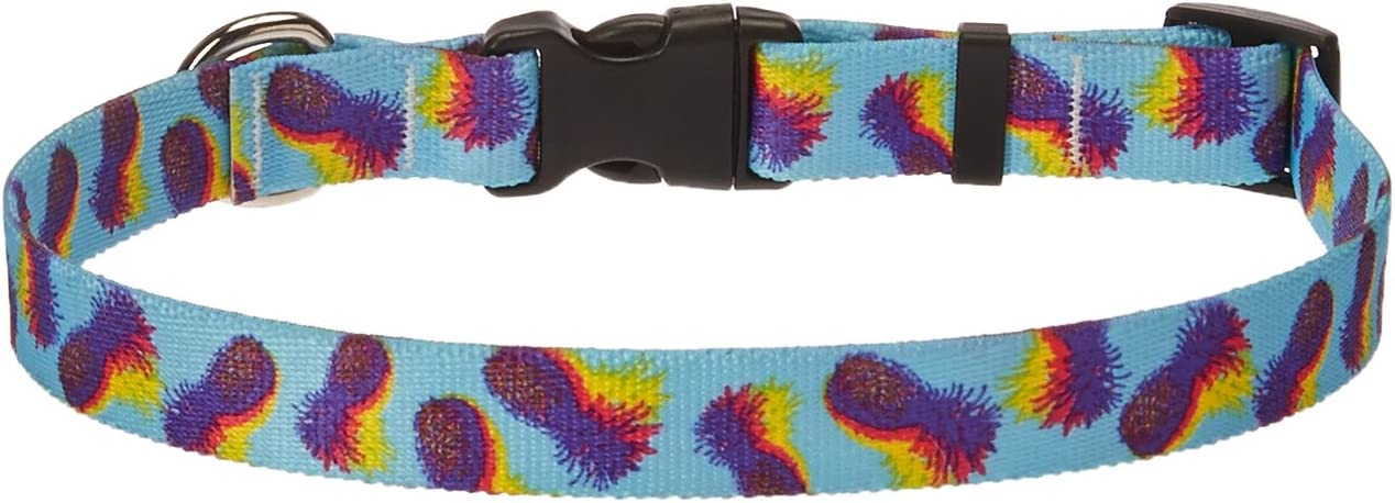 Yellow Dog Design Palm Tree Island Dog Collar Teacup-3//8 Wide and fits Neck Sizes 4 to 9