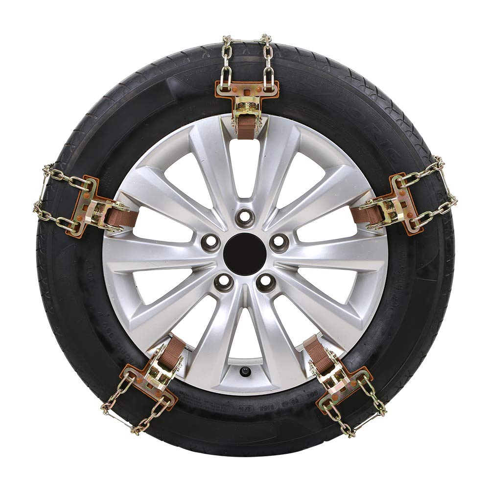 Ai CAR FUN Manganese Steel Auto Snow Chain Tire Anti-Skid Chain Emergency Tire Anti-Skid Belt Snow Road Sand Road 235-285mm