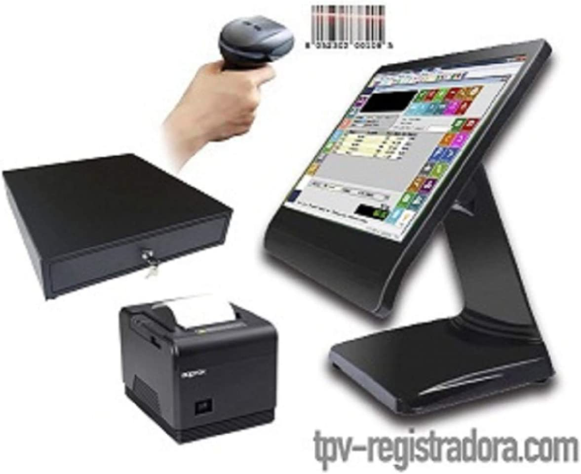 TPV Comercio táctil Completo + cajón + Impresora 80mm + Lector códigos+ Software: Amazon.es: Informática