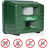 ASPECTEK Yard Sentinel Animal Repellent, Ultrasonic Animal Repeller Pest Control Outdoor Electronic Pest Deterrent with Motion Sensor for Scare Away Dog, Cat, Squirrel, Rat, Vole, Raccoon, Rodent
