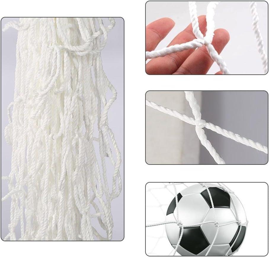 Dilwe Fu/ßballnetz f/ür Sport Match leicht zusammenklappbar tragbar Fu/ßball-Training