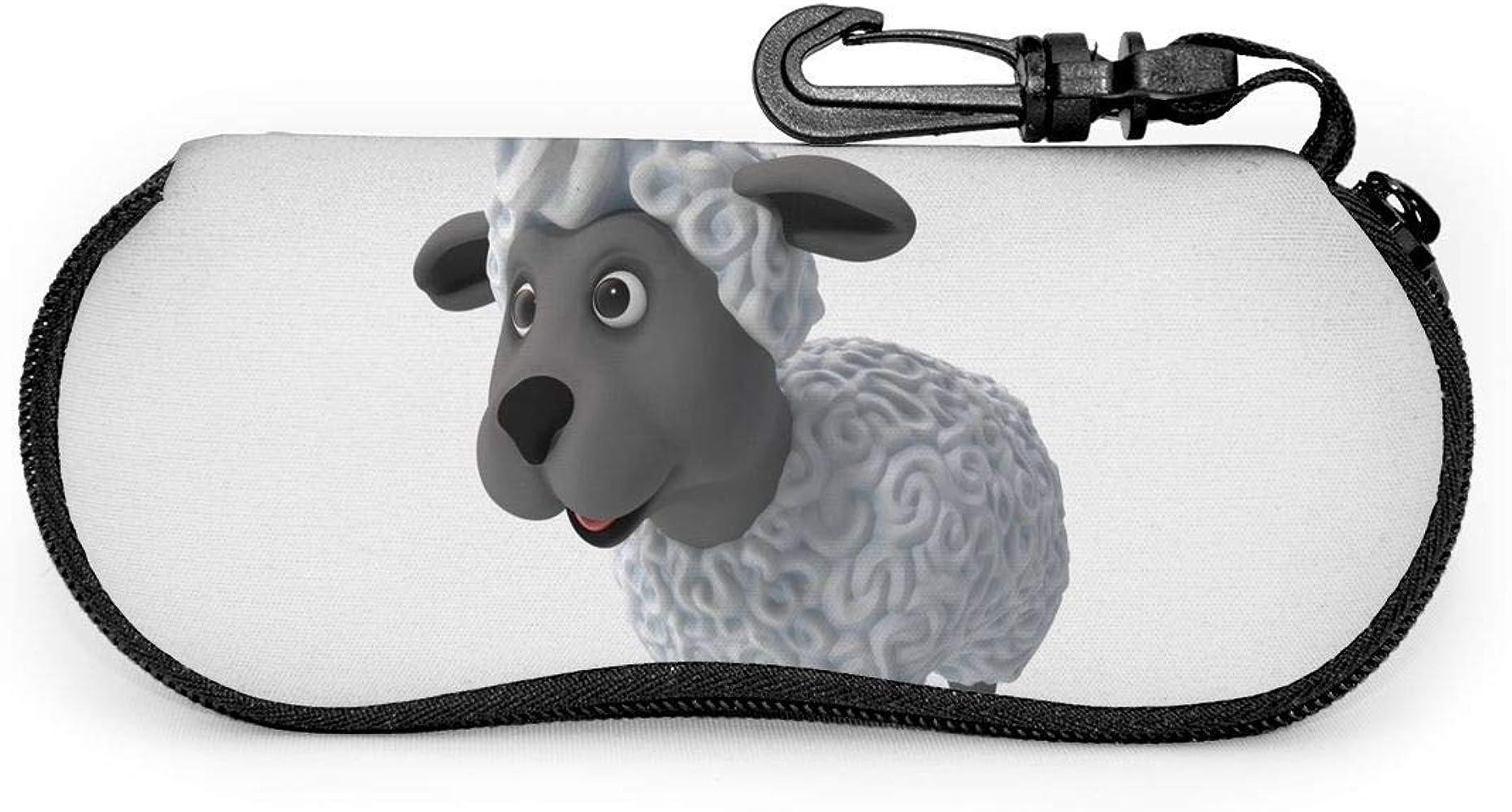 Tzshak Estuche de anteojos de oveja de dibujos animados 3D, Estuche blando para gafas de sol portátiles, Juego de protección ultraligero: Amazon.es: Ropa y accesorios