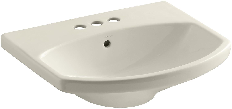 KOHLER K-2363-4-7 Cimarron Bathroom Sink Basin with 4' Centers, Black Black