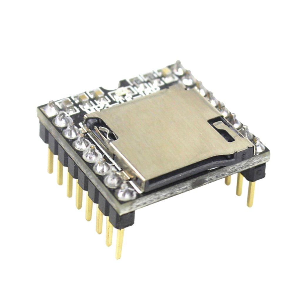 Perfeclan TF Tarjeta u Disco Mini mp3 Reproductor de Audio m/ódulo de Voz para arduino