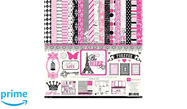Echo Park Paper Company Be Mine Collection Scrapbooking Kit by Cassandra Cooper 12x12