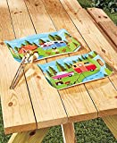 The Lakeside Collection Set of 2 Happy Camper Trays offers