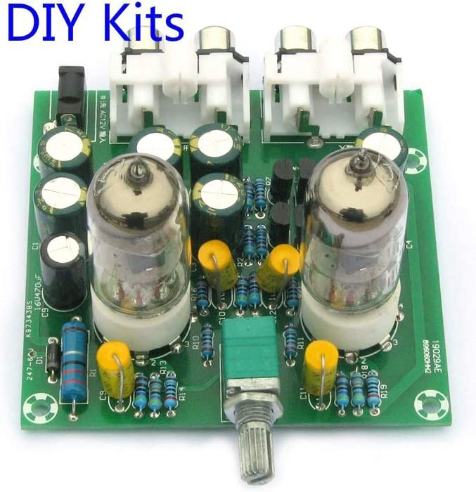 5654 etc AC 12V 6J1 Electronic Tube Bile Preamplifier with Boost Function Electron Valve Pre-amp Tube Stereo Bile Preamplifier Board Buffer Effector DIY Kit Replace The Tube Type 6AK5 6AU6