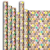 Jillson Roberts 6 Roll-Count All-Occasion Gift Wrap Available in 14 Different Assortments, Food Fest