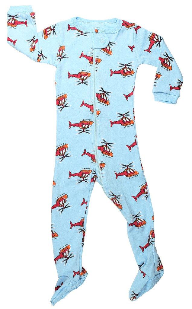 Elowel Neonati maschi zampe Elicottero pigiama 100% cotone (formato 6 M-5 anni)