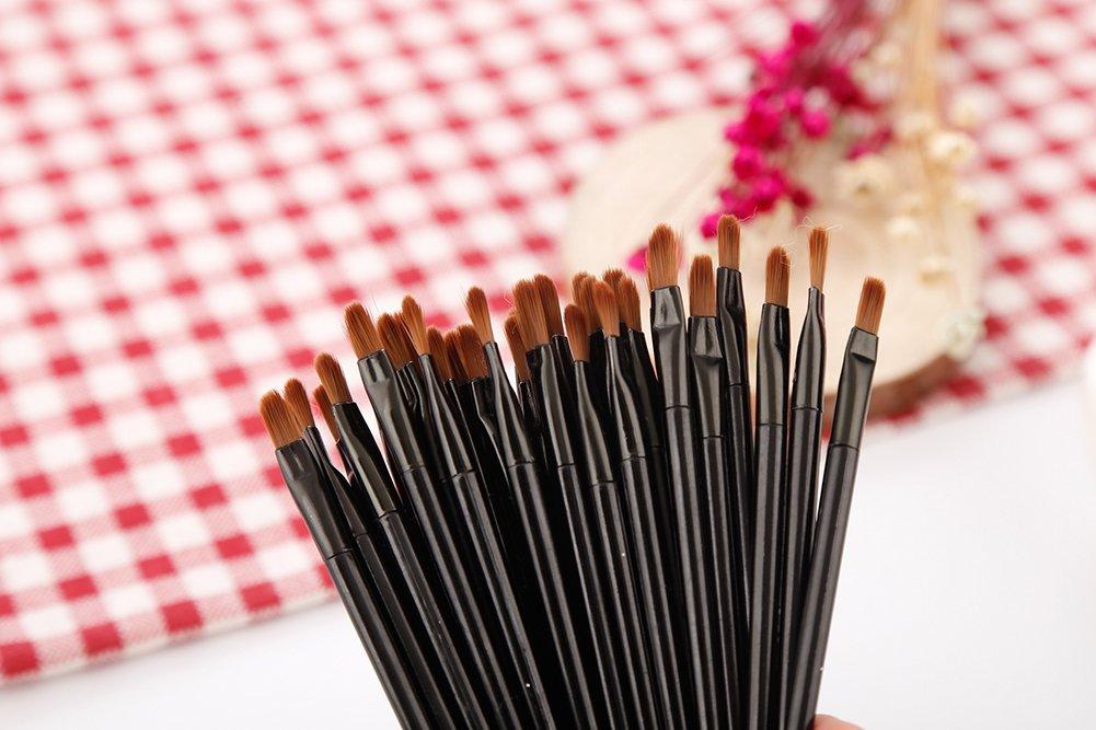 50 Pieces Lip Brushes, Pro Multifunctional Makeup Brush, Lipstick Gloss Wands Applicator Cosmetic Tool Kits, Black: Beauty
