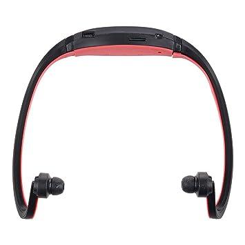 TOOGOO(R) Negro+Rojo Deporte MP3 WMA Reproductor de Musica Ranura ...
