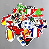 World Flags Stickers National 27Pcs Map Children Adult teens Teacher Toddlers Water Bottles Laptop Car Travel Luggage Suitcase Skateboard Vinyl Bike Motorcycle Decal Graffiti Patches Bumper Cellphone