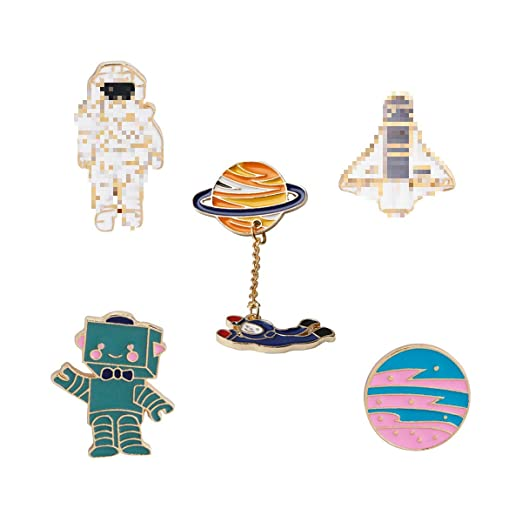Arts,crafts & Sewing 1 Pcs Cartoon Colorful Animal Metal Badge Brooch Button Pins Denim Jacket Pin Jewelry Decoration Badge For Clothes Lapel Pins