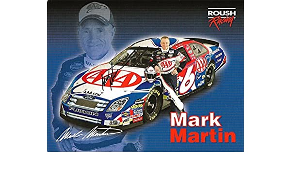 304bfb10 2006 Mark Martin AAA FORD FUSION NASCAR RACING Signed Auto 8.5x11 Postcard  - Cut Signatures at Amazon's Sports Collectibles Store