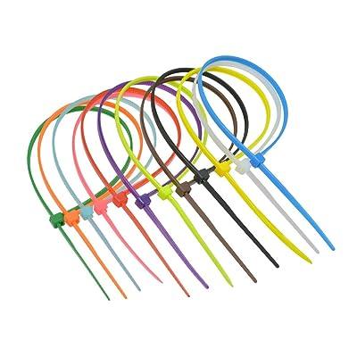 Bonlting 400Pcs Colorful Multi Purpose Self-Locking Nylon Cable Zip Ties : Garden & Outdoor