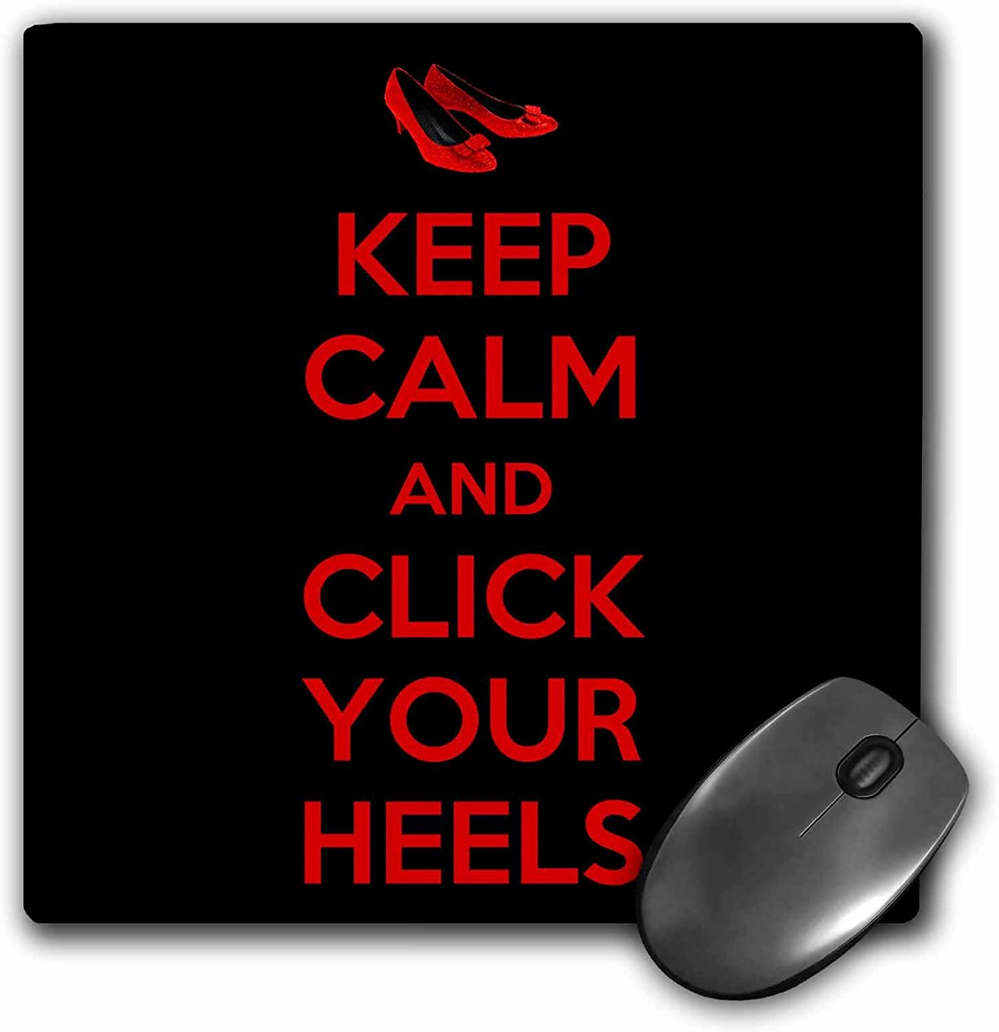 3drose Keep Calm and Click Your Heels Mouse Pad