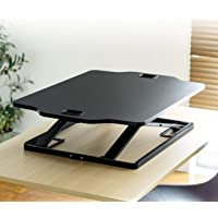 SANWA Easy Adjustable Standing Desk, 12 Height Levels, Sit to Stand Up Desk Converter, 31×21 inch Ergonomic Riser…