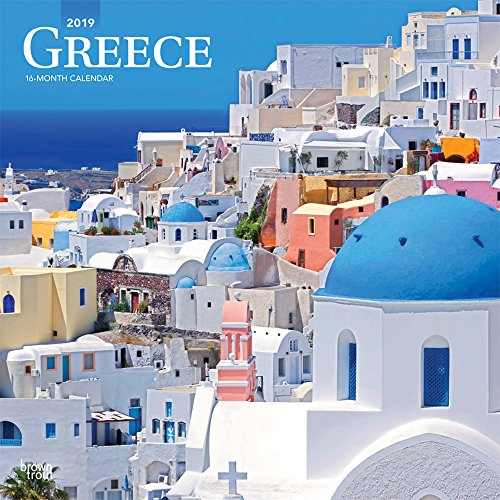 Greece 2019 12 x 12 Inch Monthly Square Wall Calendar, Scenic Travel Europe Greece (English, Spanish and French - Desk Monthly Scenic