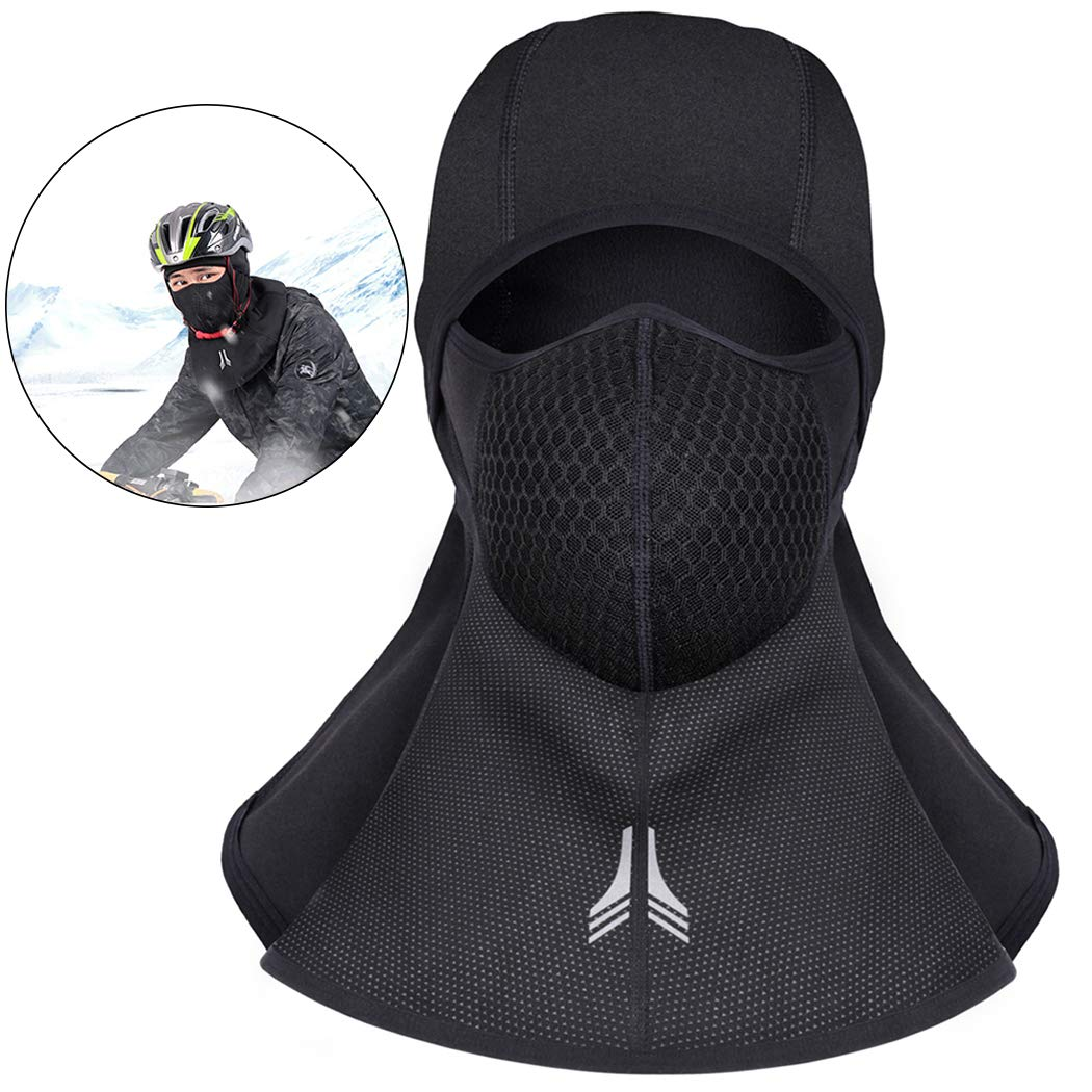 Outgeek Winter Mask, Ski Balaclava Mask Full Face Windproof Hat Neck Gaiter for Cycling Skiing Outdoor Sport