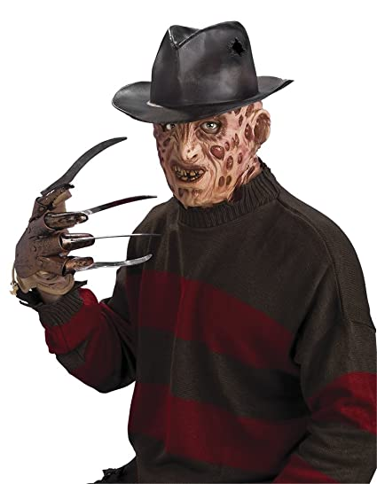 11bf7521eaa Amazon.com  Rubie s Costume Co A Nightmare On Elm Street Freddy Krueger Hat  (One Size Brown)  Clothing