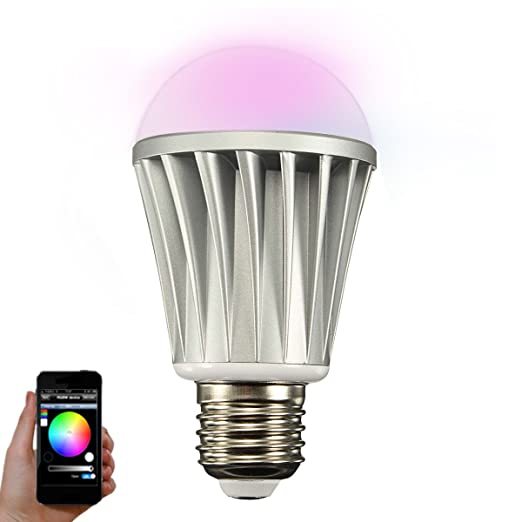 Smart LED Lámpara, glisteny RGB Bluetooth Bombilla LED Bulb DIMM Bar Cambio de color por