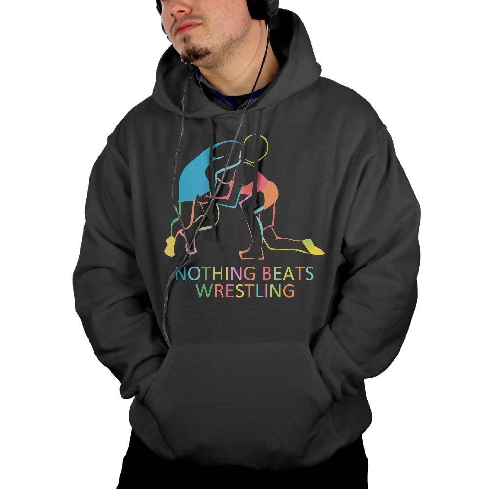 SF HOODEIE Nothing Beats Wrestling Men's Print Kangaroo Pocket Hoodie