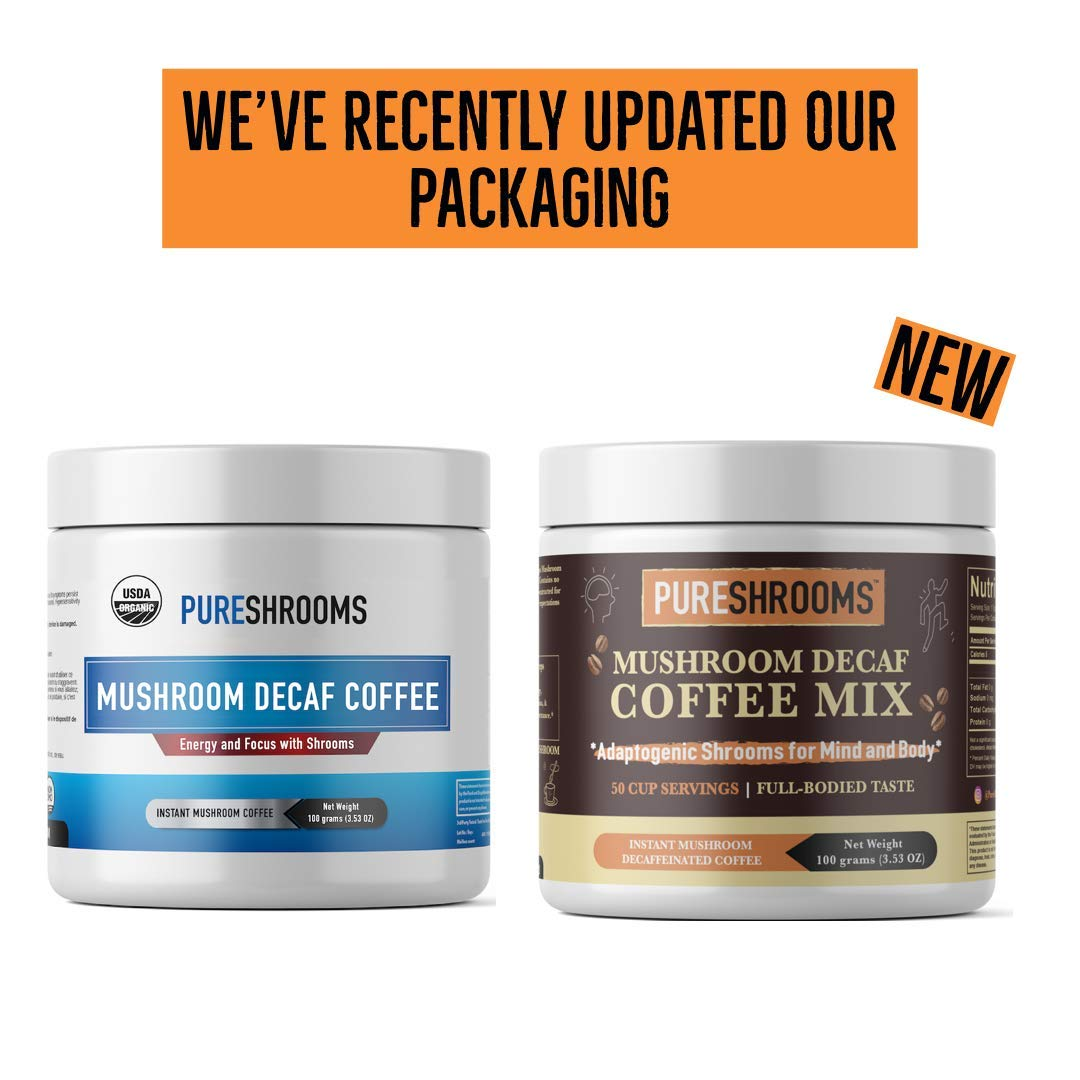 Pure Shrooms Focus & Think Mushroom Coffee with Dual-Extracted Lion's Mane  (Focus & Think, 25