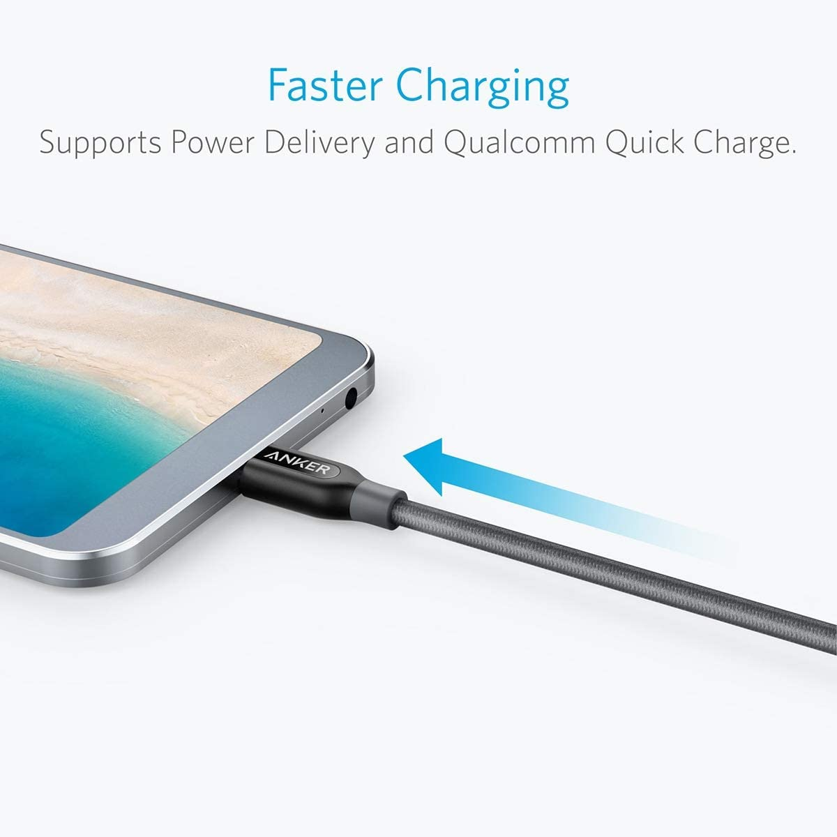Powerline+ USB C to USB C Cord Power Delivery PD Charging for MacBook Chromebook Switch iPad Pro 2020 and More Type-C Devices//Laptops Anker USB C to USB C Cable Huawei Matebook 3ft Pixel