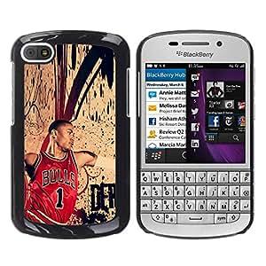 Chic Bull 1 Baloncesto - Metal de aluminio y de plástico duro Caja del teléfono - Negro - BlackBerry Q10